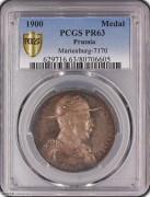 【德藏专卖】德国1900年德皇威廉二世侵华银章 PCGS PR63