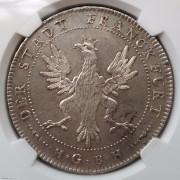 【德藏】德国1796年法兰克福鹰徽大市场泰勒银币 NGC MS63