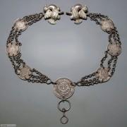 银币银链挂件