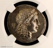 NGC评级MS级古希腊穆雷娜城太阳神四德大银币