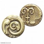 2015年三阳开泰小铜章  中国金币北京开元