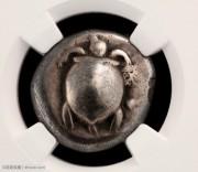 古希腊埃伊纳岛早期海龟图银币