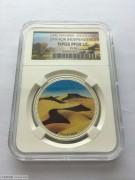 纳米比亚1995年国家独立5周年精制彩色纪念银币样币发行49枚NPGSPF69UC