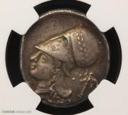 古希腊科林斯飞马银币NGC评级老银币