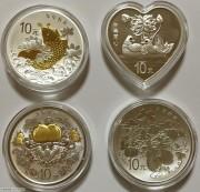2015年吉祥文化金银币4枚套-1盎司(五福拱寿/瓜瓞绵绵/年年有余/并蒂同心)