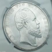 【德藏】德国1871年符腾堡乌尔姆教堂精制2泰勒银币 NGC PF62