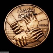 众志成城-战胜疫情紫铜纪念章 预售