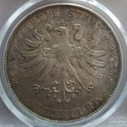 【德藏】德国1854年法兰克福鹰徽2泰勒 PCGS AU58