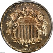 PCGS-PR66 1867 Shield Nickel