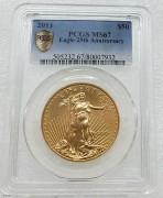 PCGS MS67 美国自由女神鹰2011年50元大金币33.93克916金 07932 含纯金 1 盎司