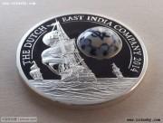 """库克""""荷兰东印度公司青花瓷""""镶嵌银币"""