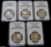 1992中国古代科技发明发现纪念币(第1组)1盎司铂金币套装 (非卖品-精品展示)