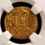 拜占庭帝国君士坦丁五世和列奥四世金币-NGC评级完全未流通品