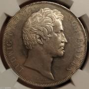 【德藏】德国1839年巴伐利亚选帝侯2泰勒银币 NGC MS63 镜面底板