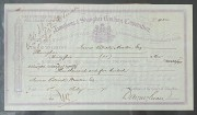 存世最早的1871年匯豐銀行股票