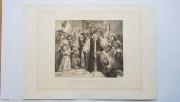 古董铜版画14 1800年-1850年 英国七主教获释 (平版)