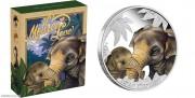 2014年 图瓦卢 母亲的爱系列5枚一套 50分 精制银币 盒证齐全