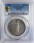 1862年德国法兰克福1泰勒银币