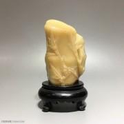 """寿山石 """"竹纹""""摆件"""