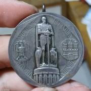 【德藏】德国1909年汉堡射击节银章 原铸吊环