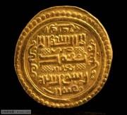 极美的伊儿汗国第纳尔金币文字清晰带原光