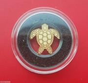 帕劳幸运钱币海龟仿真异形小金币