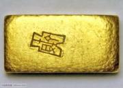 UNC 中央造币厂布图金条一两B25349