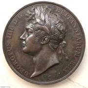 英國1821年喬治四世登基銅章