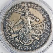 ★PCGS-SP63 1897年德国纽伦堡第十二届德意志联邦射击节银章