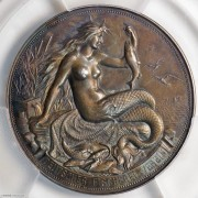 ★PCGS-SP64 1896年德国渔业协会美人鱼大银章