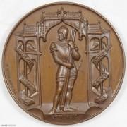 ★UNC 1887年瑞士森帕赫战役500周年纪念铜章