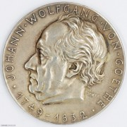 ★UNC 1932年德国卡尔歌茨银章 纪念歌德逝世百年银章
