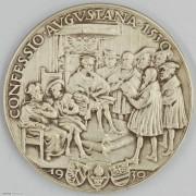 ★UNC 1930年德国卡尔歌茨银章 纪念奥格斯堡信条颁布400周年银章