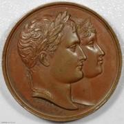 UNC 1811年法国拿破仑一世之子罗马王诞生原铸铜章
