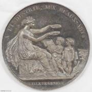 ★UNC 19世纪瑞士日内瓦艺术学院五彩银章