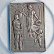 PCGS-SP64 1904年瑞士圣加伦射击节矩形大银章