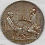 ★UNC 1900年法国永恒的爱结婚纪念银章 名家罗蒂作品