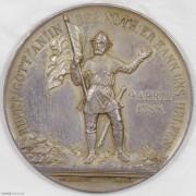 ★UNC 1888年瑞士格拉鲁斯战役500周年纪念银章