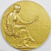 ★UNC 19世纪法国艺术协会镀金大铜章