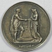 UNC 1858年法国结婚纪念银章